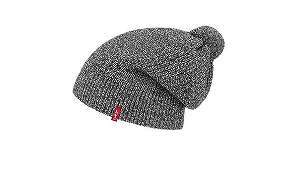77941b5ea Levi's Otis Pompom Hat s Long Beanie Winter Beanie (L/XL (58-61 ...