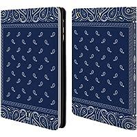 Head Case Quadrato Blu Paisley Bandana Classica Cover telefono a portafoglio in pelle per Apple iPad Mini