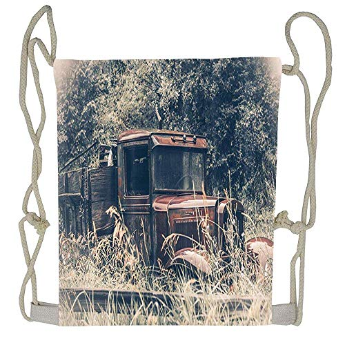 Naiyin Vintage Bath Curtain Sets Drawstring Tote Bag Cinch Gym Bags Storage Backpack for Boys Girls -