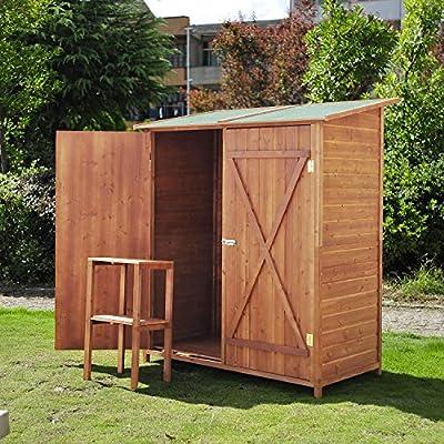 Holz Gerätehaus Geräteschuppen Gartenschrank Geräteschrank Gartenhaus 159x139x75 cm von hergestellt für homcom auf Du und dein Garten