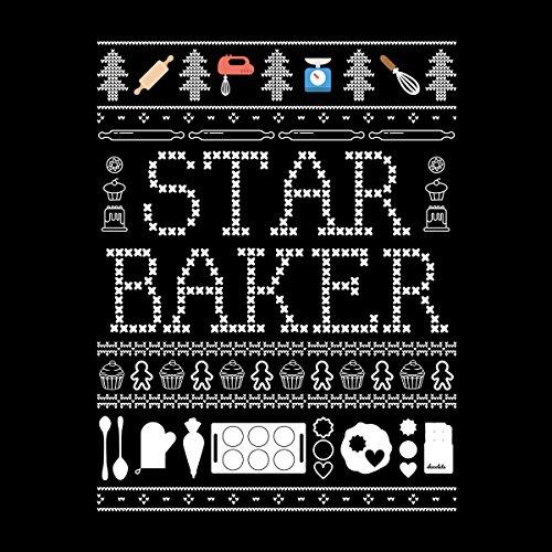 Star Baker Christmas Knit Men's Vest Black