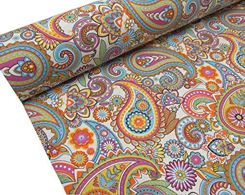 Confección Saymi Metraje 0,50 mts tejido loneta estampada Ref. Cachem