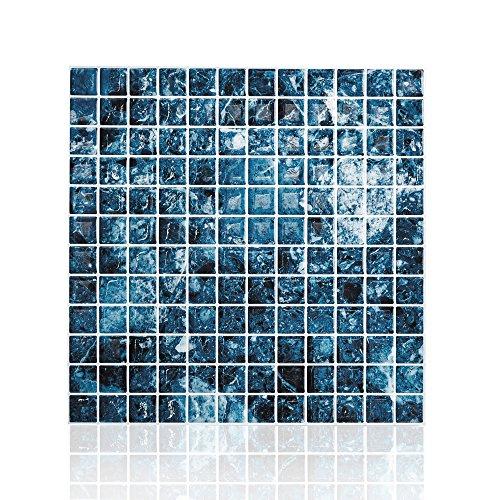 Cocotik Peel And Stick Tile Blue Kitchen Backsplash Tile 10x10 By Cocotik