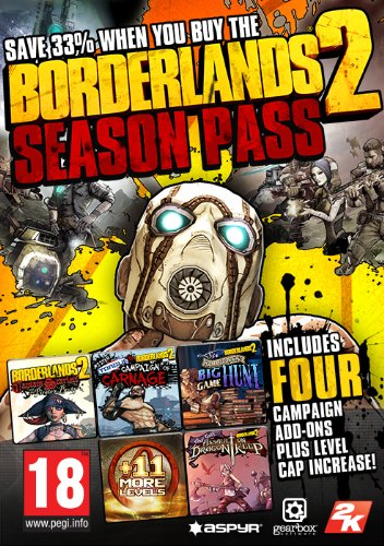 Borderlands 2 - Season Pass [Mac Steam Code] (Borderlands 2 Mac)