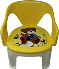 BLUBUD Baby Chair/POP N up Chair/Squeeze Strong Durable Baby Chair with Music (Yellow)