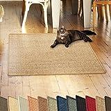 casa pura Sisalteppich Natural Line | Ideal als Kratzmatte für Katzen | schadstofffrei & widerstandsfähig | Sisal Kratzteppich in Vielen Farben und Größen (Cork, 50x50 cm)