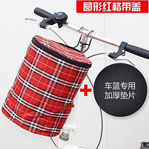 FAN4ZAME Fahrrad Korb Mountainbike Wasserdichten Plane Falten Korb Batterie Elektrofahrzeug Vordere Abdeckung Hängenden Korb D