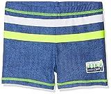 DIMO-TEX Sun Jungen Badehose UV-Schutz 50, Mehrfarbig (Jeans, Hellgrün, Weiß), 122
