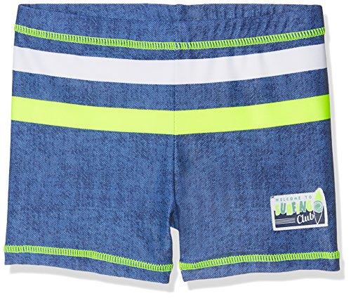 DIMO-TEX Sun Jungen Badehose UV-Schutz 50, Mehrfarbig (Jeans, Hellgrün, Weiß), 140
