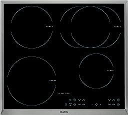AEG HK634250XB Induktionskochfeld/Glaskeramik/60 cm/4-fach Induktion mit Single-Control/Stop und Go-Funktion/edelstahl