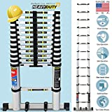 #5: Euro Telescopic Aluminium Ladder 3.8 Mtr (13 Feet) - Stores At 3 Feet - Aircraft Grade Aluminium Advanced -Tele Tech- Portable - Soft Close