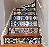 QQA Treppe Wandaufkleber Dekorative Wasserdicht DIY Selbstklebend Abziehbild Entfernbar Wandgemälde Zum Zuhause Dekor