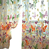 Brightup Mädchen-Schlafzimmer-Schmetterlings-Tulle-Tür-Balkon-bloßer Schirm-reizender Vorhang