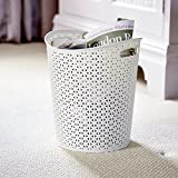 Curver My Style White Paper Bin 13 litre capacity - home, kitchen, office, bed room