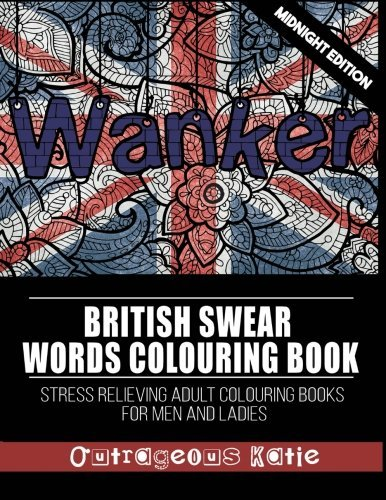 British Swear Words Colouring Book Midnight Edition