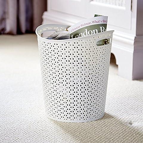 Curver mi estilo papel blanco papelera 13 litros capacidad - home, cocina, oficina, cama habitación
