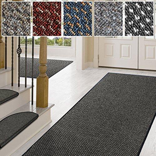 Teppich / Läufer in zahlreichen Größen | anthrazit, gepunktet | Qualitätsprodukt aus Deutschland | Teppichläufer mit GUT Siegel | Küchenläufer, Flurläufer (100x200 cm)