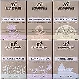 ArtNaturals Natural Soap Bar Set - (6 x 4 Oz) - Infused with Jojoba Oil - for All Skin Types - Body and Face - Tea Tree, Lavender, Eucalyptus, Lemon, Grapefruit and Orange - Men and Women