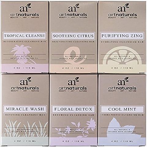 ArtNaturals Natural Soap Bar Set - (6