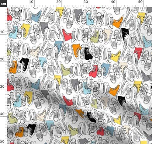 Schuhe, Gegenteilig, Mode, Geek Chic, Punk, Retro, Sport Stoffe - Individuell Bedruckt von Spoonflower - Design von Pennycandy Gedruckt auf Minky Retro-chic Quilt
