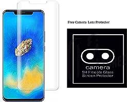 True Desire (Full Glue) Full Body UV Tempered Glass, Full Edge-to-Edge Curved Screen Protector for Huawei Mate 20 Pro -...