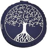 maylow - Yoga mit Herz Yogakissen Stickerei Baum des Lebens 33 x 15 cm mit Dinkelspelz gefüllt-Bezug und Inlett 100