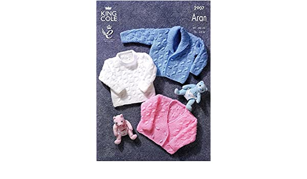 Jacket /& Cardigan in Bounty Aran King Cole 2907 Knitting Pattern Sweater