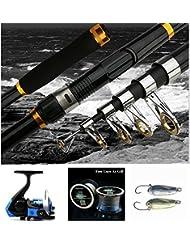 Lumière LED bntteam Moulinet de pêche lumineux en métal Moulinet de pêche de roue 10+ 1BB–Gauche/Droite interchangeable Leurre de pêche Nuit Gear