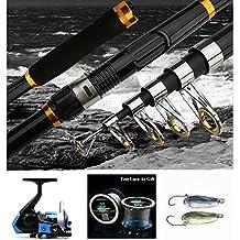 BNTTEAM 2.1M Caña de pescar + carrete de la pesca + señuelo de la pesca + línea de la pesca Combinación de la pesca determinada Pesca del lago / del barco