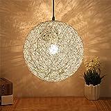 ShengYe rustikalen Stil Deckenleuchten Pendelleuchte die Kugel hängende Ball am Seil hängend runden Leuchten, die mit einem Durchmesser von 160 mm.