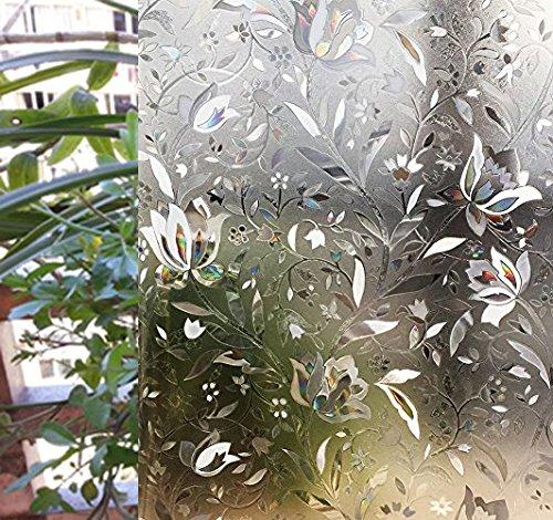 zindoo-pellicola-privacy-3d-fiori-decorativeautoadesiveanti-uvcontrollo-di-calore-per-ufficio-bagno-