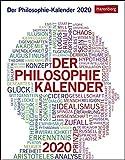Der Philosophie-Kalender Wissenskalender. Tischkalender 2020. Tageskalendarium. Blockkalender. Format 12,5 x 16 cm
