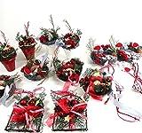 LAST MINUTE 12 WEIHNACHTSGESTECKE zum Stellen Hängen rot Weihnachten Tanne Gesteck ü2ü 867