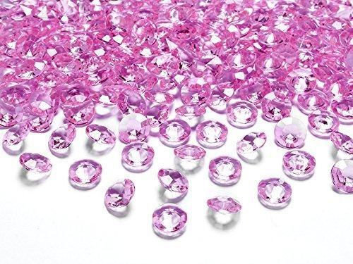 100 Diamanten hellrosa rosa 12mm Tischdekoration Streuartikel Hochzeit Taufe