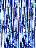 Oblique Unique® Lametta Vorhang 92x245 cm (Blau)