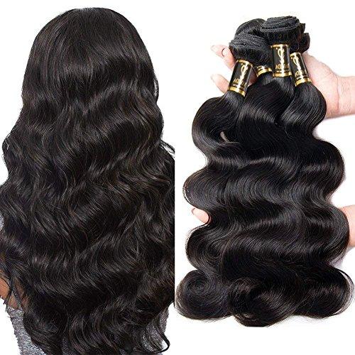 Yavida Meche Bresilienne Lot 8A Cheveux Bresilien Tissage en Lot Tissage Remy Hair Vague De Corps 300g Cheveux Vierge Ondulé 16 18 20 Pouces