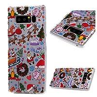 Funda para Samsung Galaxy Note 8 Silicona, STXMALL Carcasa TPU Diseño de Pintura, Case Ultra Delgado y Sueve para Samsung Galaxy Note 8 - Funda Adornos Navideños