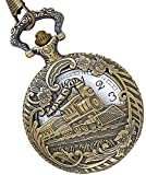 LMP3Creation Bronze Classic Vintage Retro Antique Skeleton Hollow Indian Railway Style Chain Pocket Watch (POW-0022) best price on Amazon @ Rs. 449