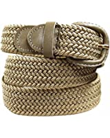 ALAIX Women's or Men's 35mm Adjustable Braided Weave Elastic Stretch Belt