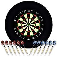 Linkvisions Sisal/Borsten-Dartscheibe mit Stapelfreiem Bullseye, 18 g Stahlspitzen-Dartset, Dartscheiben-Montagesätze…