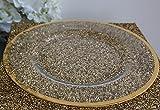 Decor Trader Platzteller aus Glas mit metallischem Rand in Rotgold, für Hochzeiten, Veranstaltungen, Weihnachten gold