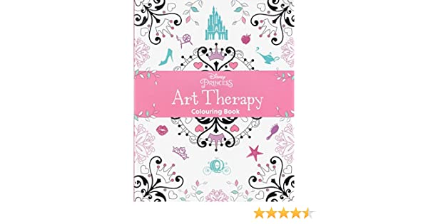 Disney Princess Adult Art Therapy Colouring Book Amazoncouk Kitchen Home