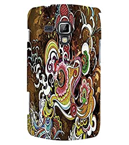 Fuson 3D Printed Designer back case cover for Samsung Galaxy S Duos S7562 - D4285