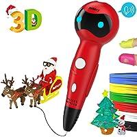 NULAXY Stylo 3D Stylos d'Impression 3D avec Invites vocales+Le Filament de PLA Recharge l'alimentation Automatique Compatible avec Filaments PLA ABS, Cadeau - Stylo 3D pour Enfant et Adulte
