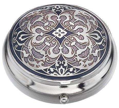Pille Box (Standard Größe) in einem Arabesque Design in Lila Farbe