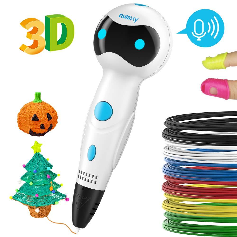 Nulaxy Pluma Impresión 3D, 3D Pen Niños Adultos (Blanco) (2#)