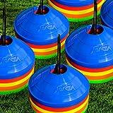 Markierungsteller, 50 Stück, mit Ständer, beste Qualität [Net World Sports] (Markierungsteller mehrfarbig) - 3