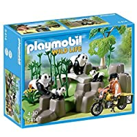 PLAYMOBIL Pandas in Bamboo Forest Set by Playmobil