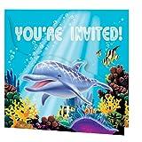 16-teiliges Einladungskarten Set * OCEAN PARTY * für Kindergeburtstag und