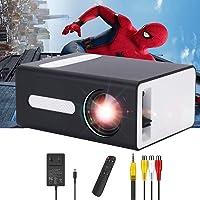 PADZUO Mini projecteur Portable pour appareils Mobiles Compatible avec Prise Jack pour Casque USB HDMI TF AV 3,5 mm…